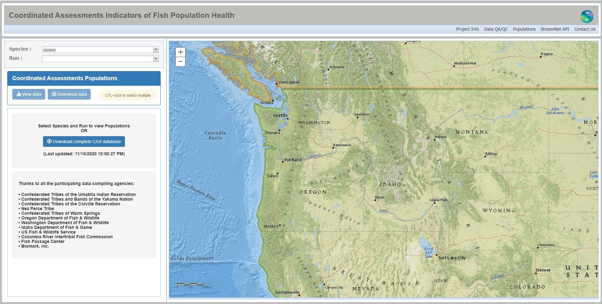 Icon to access the CAP Fish HLI data mapper