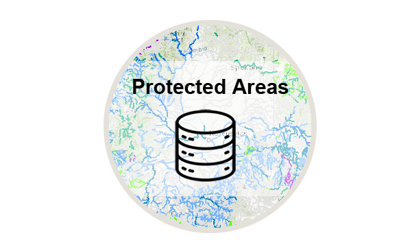 Logo to download a copy of the Protected Areas database
