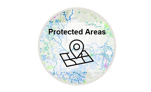 Logo for the Protected Areas Mapper tool